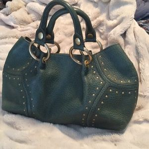 Kenneth Cole Green Leather Purse
